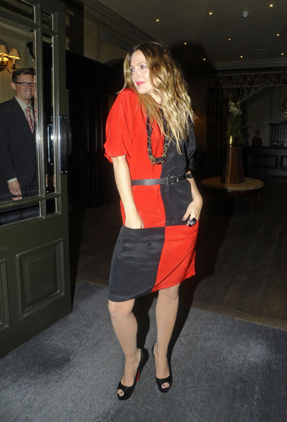 More Pics of Drew Barrymore Peep Toe Pumps (4 of 6) - Drew Barrymore Lookbook - StyleBistro
