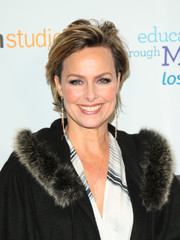 Melora Hardin showed off a trendy razor cut at the Education Through Music-Los Angeles Gala.