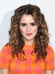 Laura Marano sported big curly hair at the Time for Heroes Family Festival.