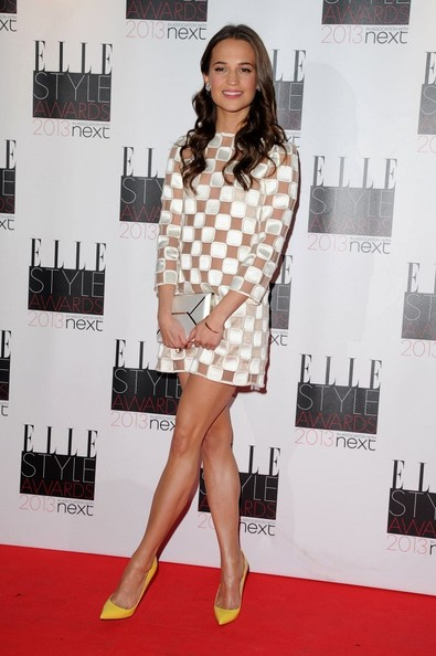 Alicia Vikander at the 2013 Elle Style Awards