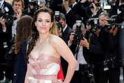 Emily Hampshire Strapless Dress