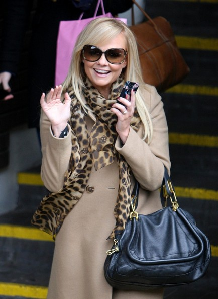 Emma Bunton Patterned Scarf