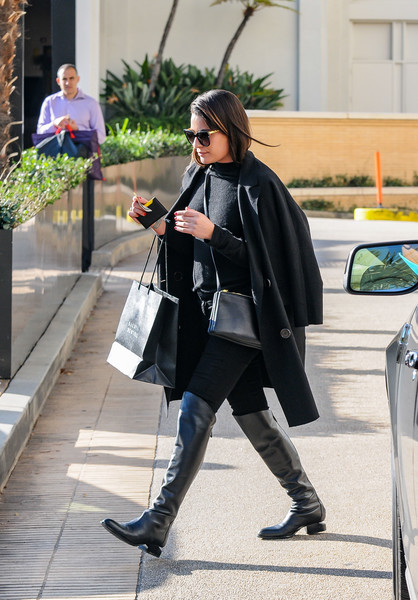 More Pics of Lea Michele Over the Knee Boots (1 of 8) - Lea Michele Lookbook - StyleBistro []