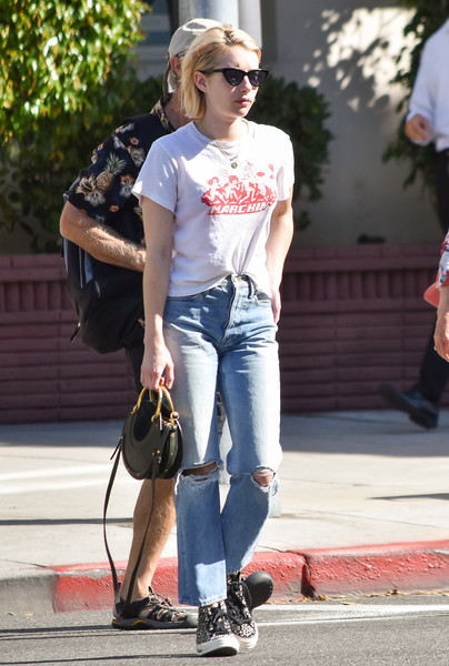 More Pics of Emma Roberts Canvas Sneakers (2 of 15) - Canvas Sneakers Lookbook - StyleBistro
