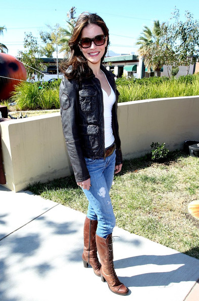Emmanuelle Vaugier Lace Up Boots