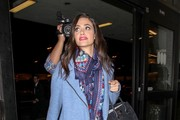 Emmy Rossum Patterned Scarf