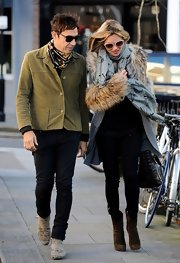 This short olive green suede jacket looked so easy going on Jamie Hince.