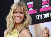 Brooklyn Decker hit the red carpet at the 'What to Expect When You're Expecting' premiere wearing a pair of fancy yellow and white diamond earrings.