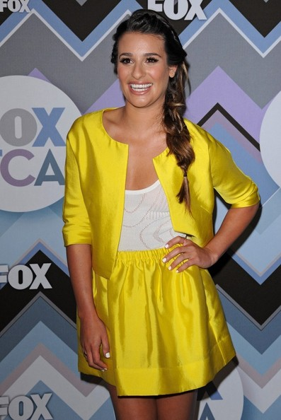 More Pics of Lea Michele Long Braided Hairstyle (5 of 13) - Long Hairstyles Lookbook - StyleBistro