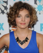 Camren Bicondova looked cute with her curled-out bob at the Fox Summer TCA All-Star Party.