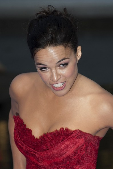 More Pics of Michelle Rodriguez Bobby Pinned Updo (1 of 9) - Updos Lookbook - StyleBistro