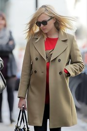 Fearne Cotton's classic camel trench was a smart choice for looking stylish with ease.