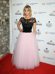 Sofia Boutella had a fairytale moment in a two-tone gown with a fitted bodice and a cotton candy skirt at the Fred Hollows Foundation fundraising gala.