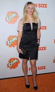 "Chelsea Handler got a leg up at the ""Fun Size' premiere in a pair of black platform pumps."