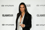 Demi Moore Wears Leather Pants