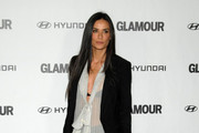 Demi Moore Wears Sleek Black Evening Pumps