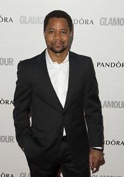 Pinstripes are always in style and Cuba Gooding Jr. proves it in this tailored jacket.