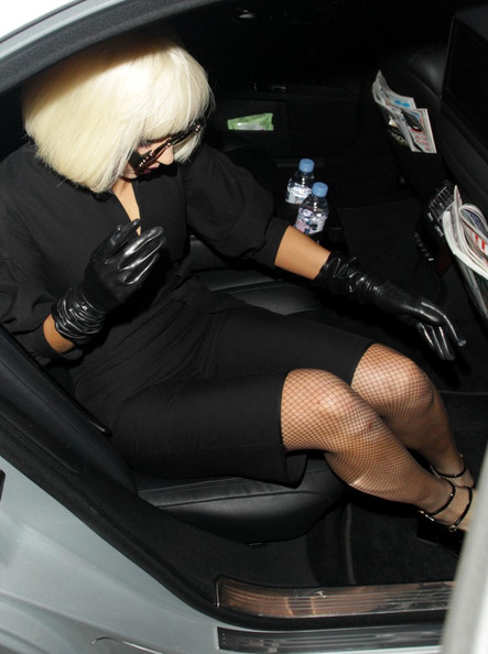 More Pics of Lady Gaga Leather Gloves (2 of 5) - Leather Gloves Lookbook - StyleBistro []