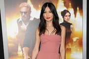Gemma Chan Strapless Dress