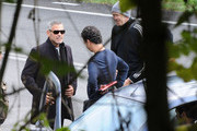 George Clooney Designer Shield Sunglasses