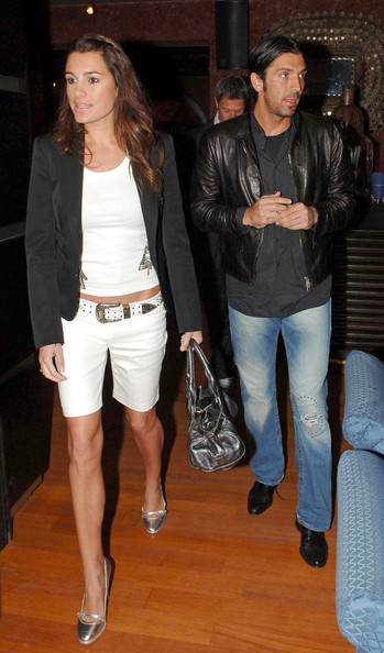 Gianluigi Buffon looked both stylish and edgy in his black leather jacket while out partying.