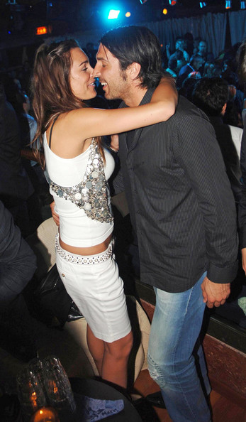 Gianluigi Buffon looked cool in his black pinstripe button-down and washed-out jeans while out partying.