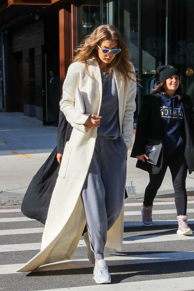 More Pics of Gigi Hadid Leather Sneakers (6 of 11) - Gigi Hadid Lookbook -  StyleBistro 87ffffa4f