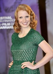Jessica Chastain wore her hair in subtle, 1950s-inspired curls at the 2011 Marrakech International Film Festival.