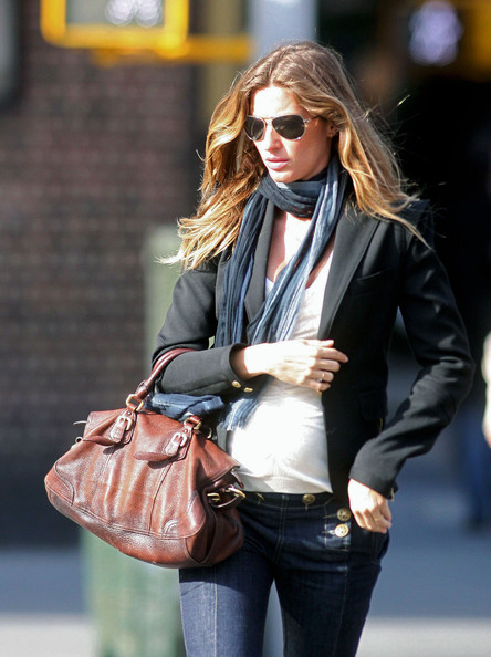 Gisele Bundchen Leather Shoulder Bag