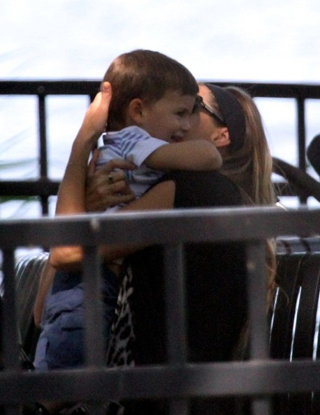 Gisele Bundchen and Benjamin in Boston