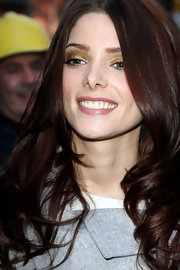 Ashley Greene wore a hint of soft pearlescent pink lipstick while out in NYC.