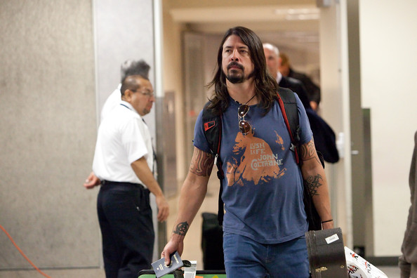 Musician Dave Grohl has a symbol tattoo on the inside of his right wrist.