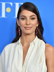 Camila Morrone looked elegant wearing this loose side-parted 'do at the 2019 HFPA Grants Banquet.