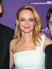 Heather Graham sported a loose side-parted hairstyle at the premiere of 'Half Magic.'