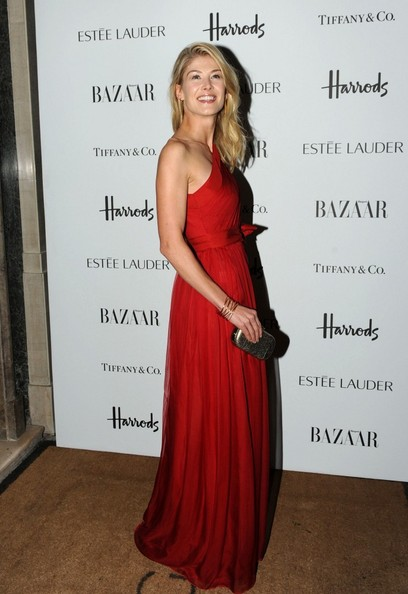 More Pics of Rosamund Pike One Shoulder Dress (1 of 2) - Rosamund Pike Lookbook - StyleBistro