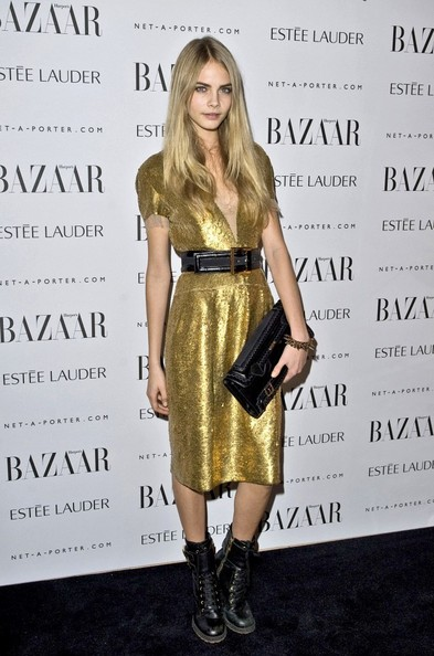 Shimmering Gold at the 2011 Harper's Bazaar Women Of The Year Awards