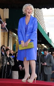 Helen Mirren visited her star on the Hollywood Walk of Fame in a pair of peep-toe pumps.