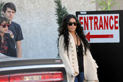 Vanessa Hudgens grabs lunch at The Studio Cafe with a couple friends.