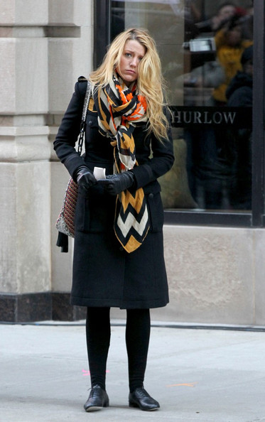 Blake+Lively in Elizabeth HUrley and Blake Lively Film 'Gossip Girl'