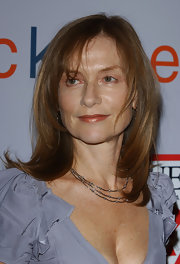 Isabelle Huppert styled her hair in glossy layers for the 'I Heart Huckabees' premiere.