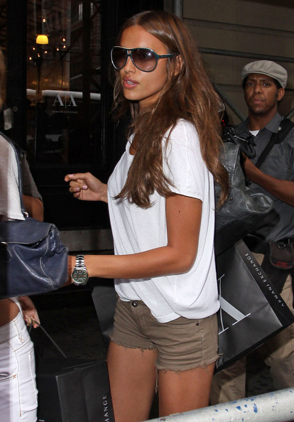 Irina Shayk Designer Shield Sunglasses