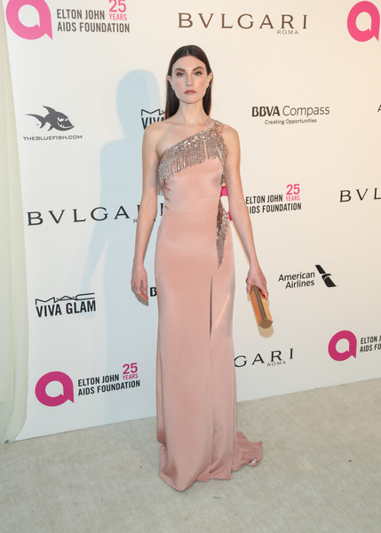 Jacquelyn Jablonski One Shoulder Dress []