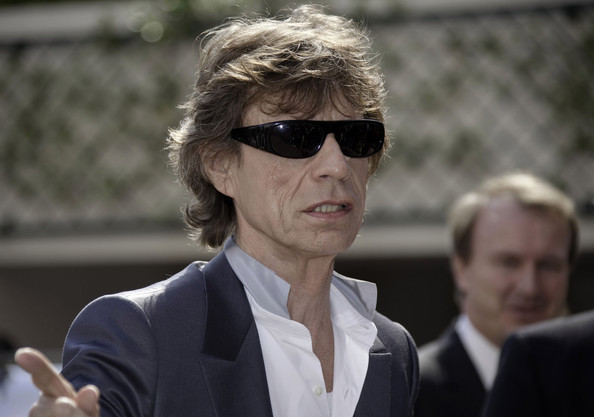 Mick Jagger looked like a man on a mission in his slick black sunglasses at the 63rd Cannes Film Festival.