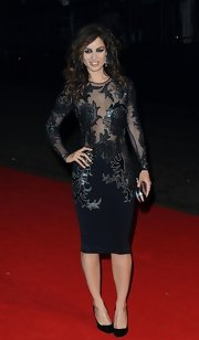 Berenice pulled a Halle Berry in this black mesh dress with a sheer appliqued bodice.