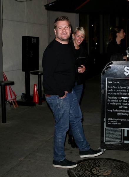 James Corden and Julia Carey Get Dinner