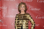 Jane Fonda Metallic Clutch