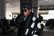 Janelle Monae Faux Fur Coat