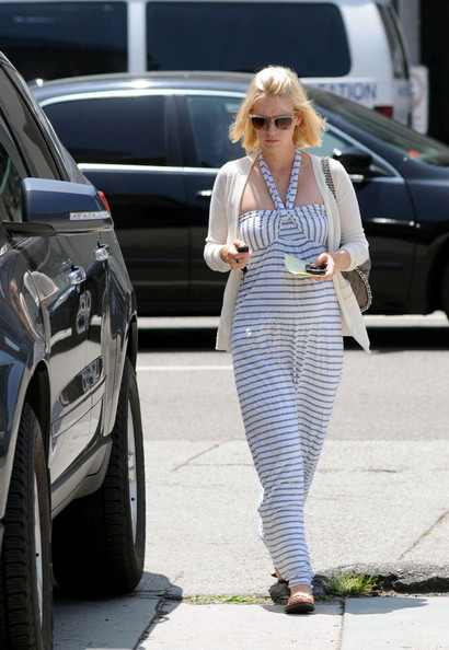 January Jones Maternity Dress []