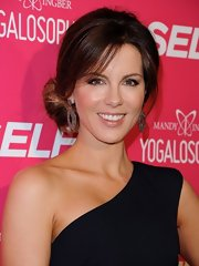Kate Beckinsale rocked a pale pink lip gloss at the launch of Mandy Ingber's new book.