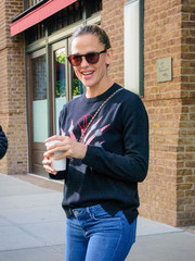 Jennifer Garner accessorized with a pair of round shades for a day out in New York City.